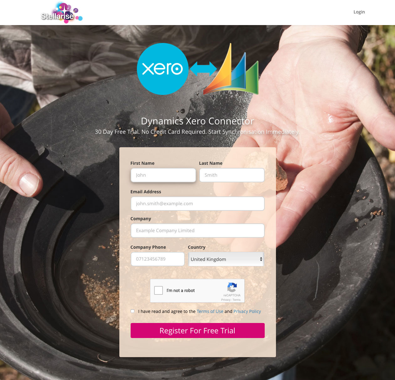 Registration for Dynamics Xero Connector